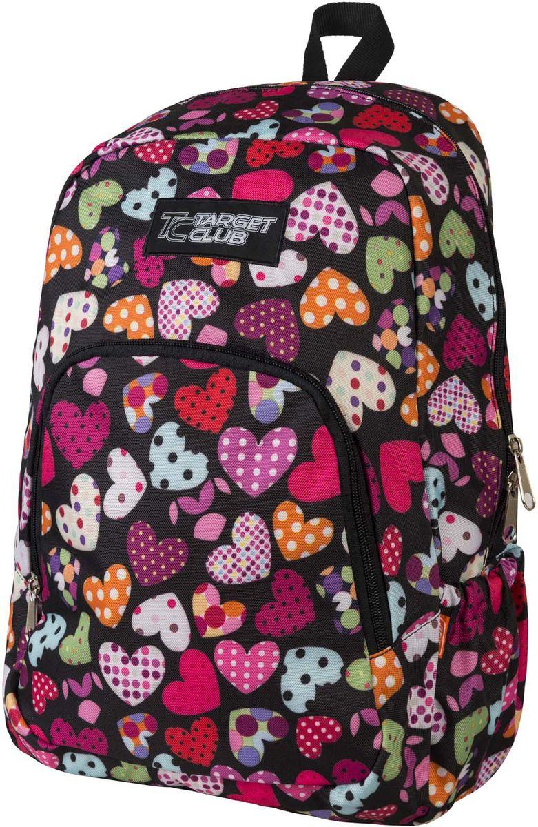 Target Рюкзак детский Love Is 2 цвет розовый19800;19800Рюкзак имеет яркий рисунок и изготовлен из современных, прочных материалов. У него одно большое отделения, которое закрывается на молнию. На внешней стороне рюкзака расположен большой накладной карман на молнии. Бегунки на застежках дополнены удобными тканевыми держателями. Особенности рюкзака: 1. Плечевые лямки можно отрегулировать 2. Ручка из плотной ткани в верхней части рюкзака сделает ношение в руке более удобным и комфортным.