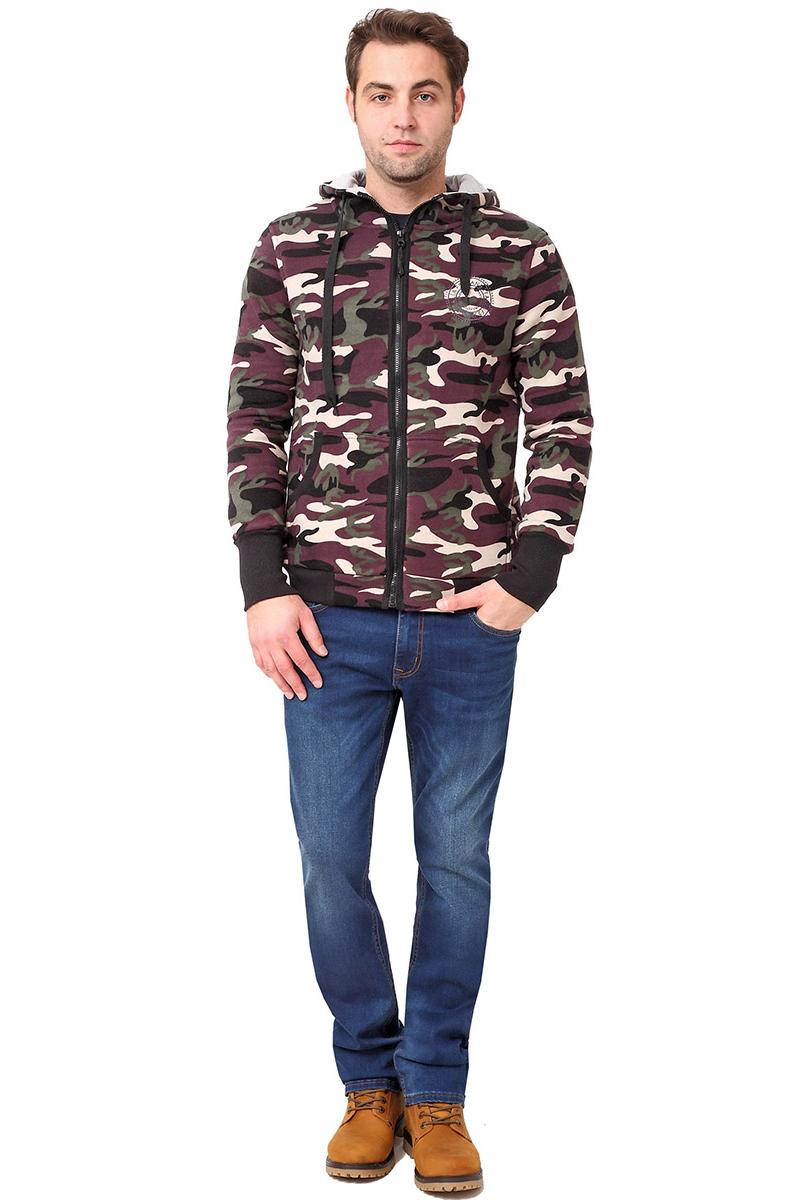Толстовка мужская F5, цвет: коричневый. 271016_Military 3. Размер XXL (54)