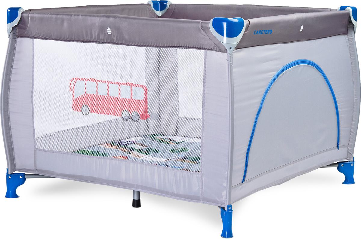 Caretero Манеж Traveler цвет серыйTERO-3981Traveler - это новый манеж, обеспечивающий ребенку много места для увлекательной игры – 100x100cm! Одновременно манеж занимает мало места, что обеспечивает его удобное хранение. В комплект входит удобная сумка для транспортировки, поэтому Traveler может сопровождать семью во время поездок. манеж портативный, подходит для детей весом до 15 кг мягкий матрас дает гарантию комфортной и безопасной игры дверца на молнии позволяют самостоятельно входить и выходить старшим детям. легкость складывания и раскладывания обеспечивает необходимую мобильность в комплекте удобная сумка для переноски сложенного манежа применяемые ткани прочны и их легко поддерживать в чистоте тему путешествия производитель обозначил во внешнем виде манежа, каждый из цветов отражает определенный способ передвижения; манеж соответствует европейским стандартам EN 12227