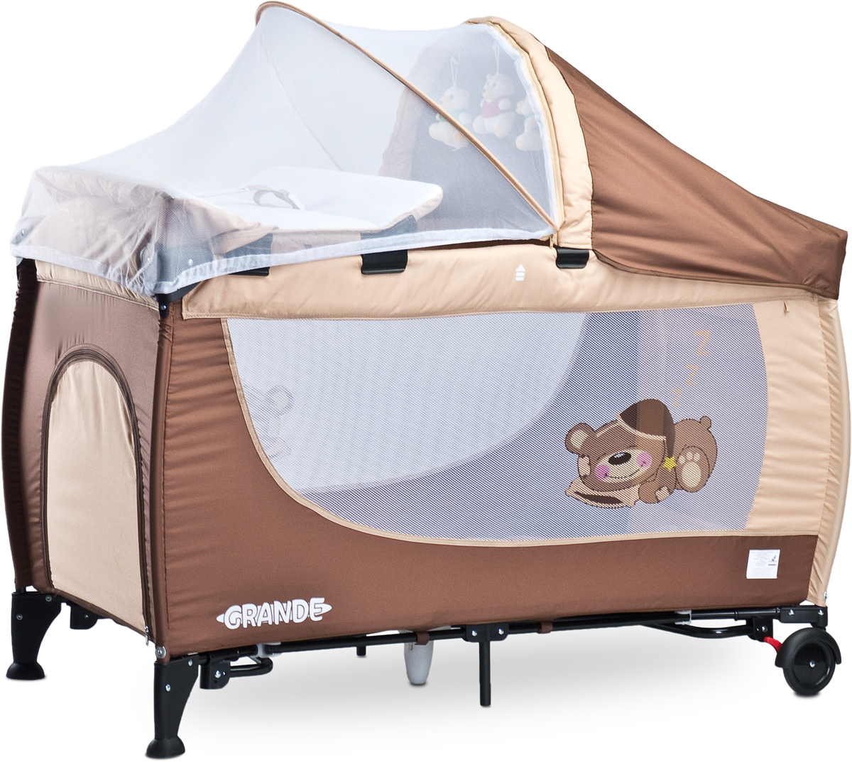 Caretero Манеж-кроватка Grande цвет коричневый - Детская комната