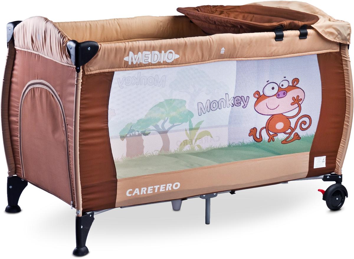 Caretero Манеж-кроватка Medio Classic цвет бежевый -  Детская комната