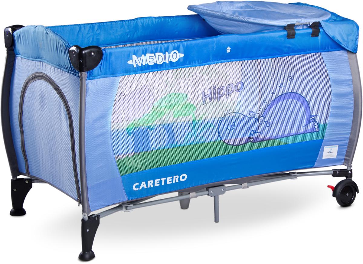 Caretero Манеж-кроватка Medio Classic цвет синий - Детская комната
