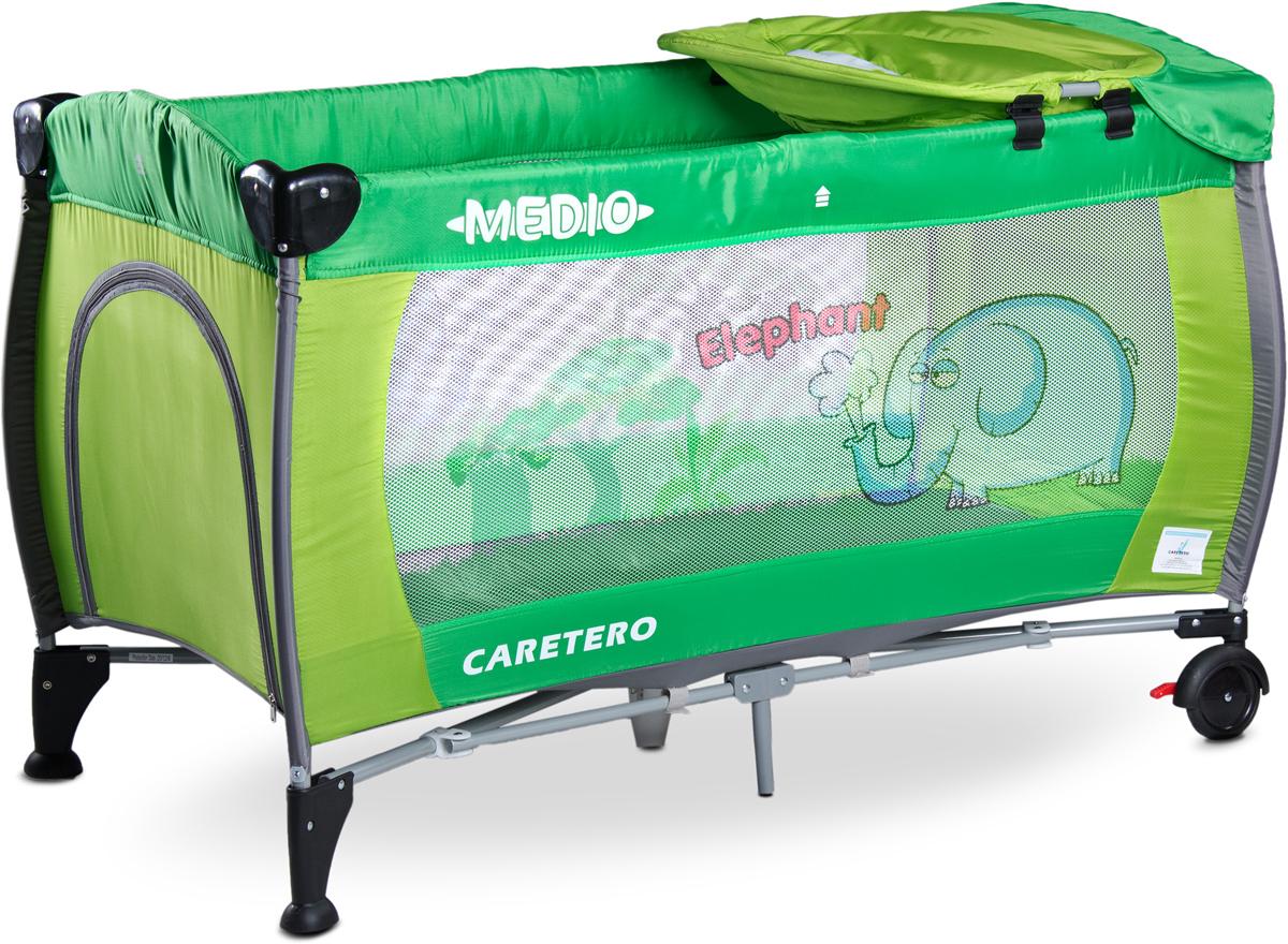 Caretero Манеж-кроватка Medio Classic цвет зеленый - Детская комната