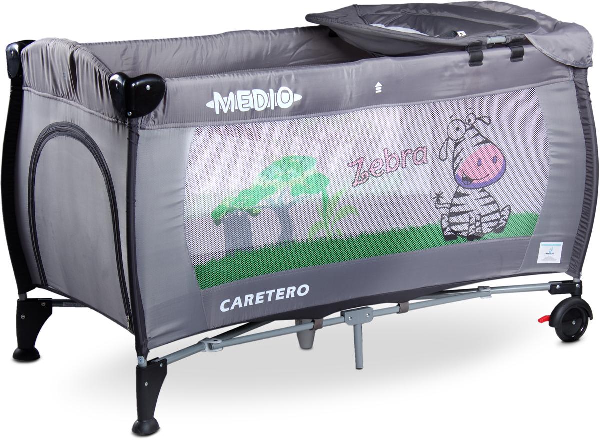Caretero Манеж-кроватка Medio Classic цвет серый -  Детская комната