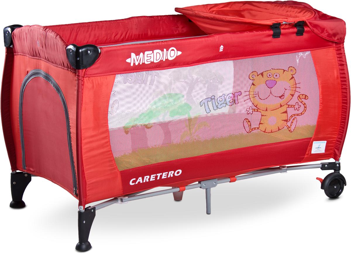 Caretero Манеж-кроватка Medio Classic цвет красный - Детская комната