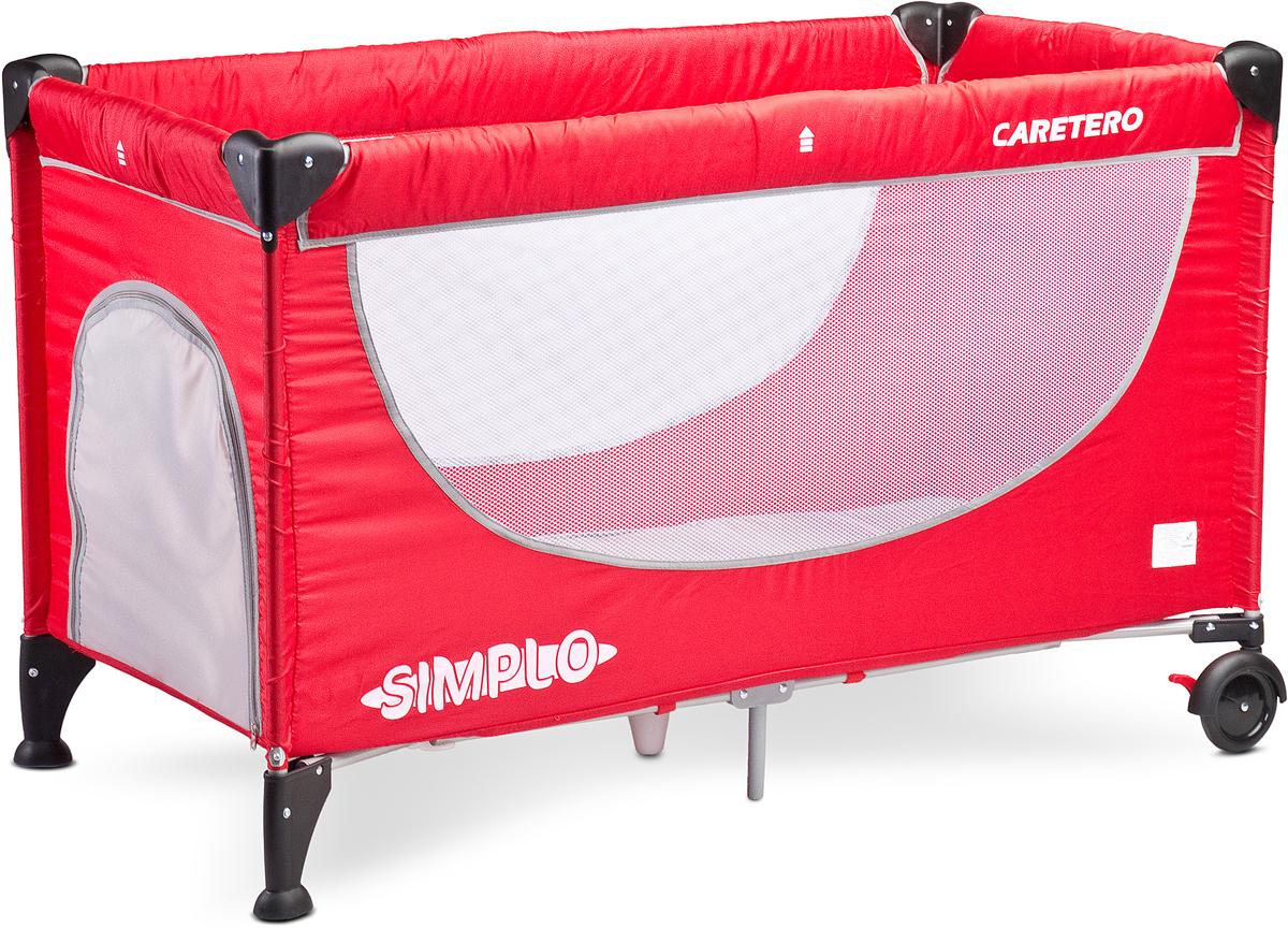 Caretero Манеж-кроватка Simplo цвет красный - Детская комната