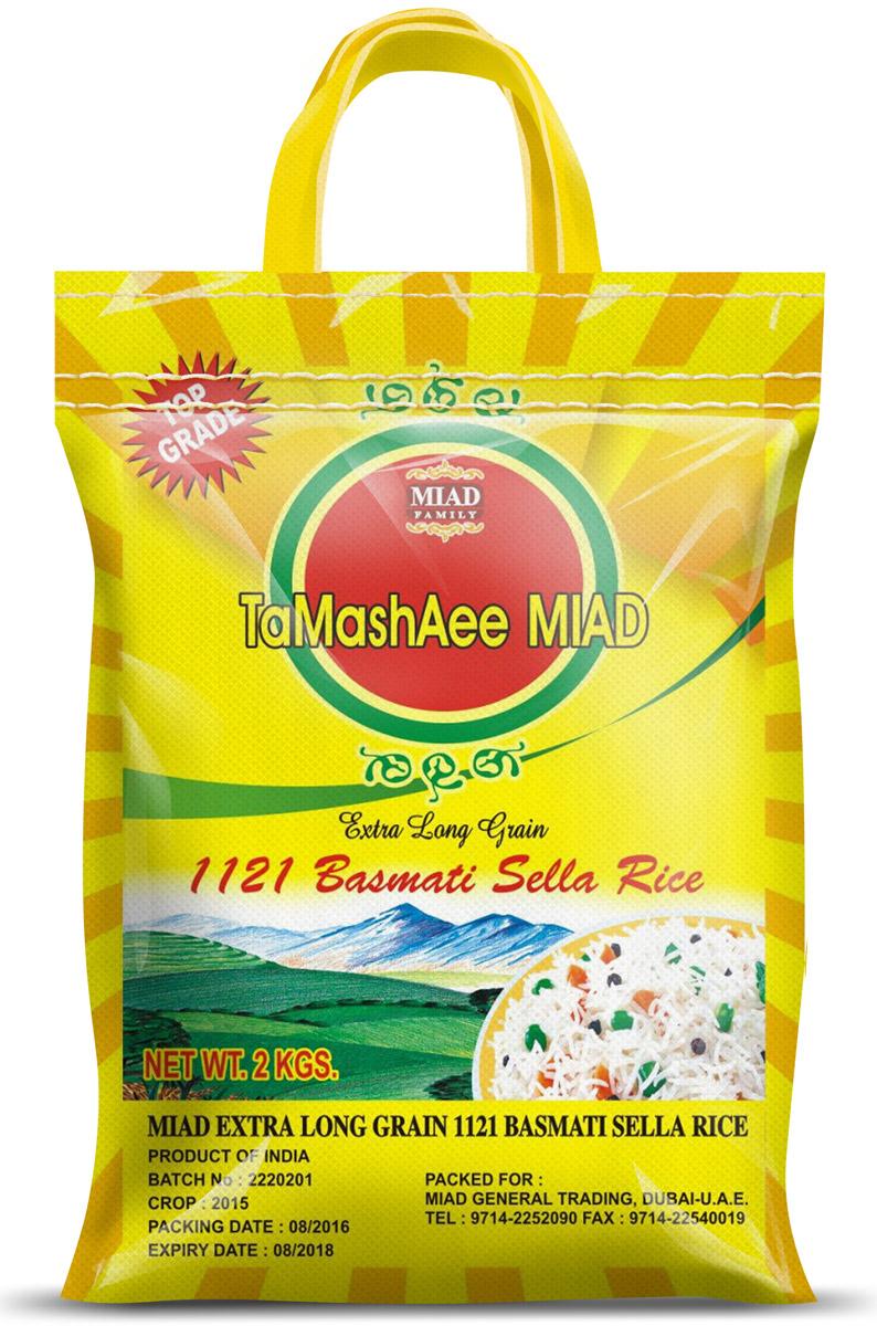 Miad Tamashaee Basmati Rice рис басмати, 2 кг6260526200740Miad Tamashee Basmati Rice - это рис первосортного качества, собранный с рисовых плантаций Пенджаба в подножиях Гималаев Индии, является экологически чистым продуктом, обладает превосходным ароматом и экзотическим вкусом. TaMashAee с индийского переводится как ароматный. Относится к Премиум классу риса, который известен как Басмати.Рис Басмати TaMashAee - является самым длинным в мире видом риса проведенным через пар, быстро готовится, не слипается, при варке рис увеличивается в 3 раза и длина зерен достигает 14 мм.Прекрасно подходит для приготовления плова. Плов, приготовленный из риса Miad Tamashee, получается воздушным и рассыпчатым.Лайфхаки по варке круп и пасты. Статья OZON Гид