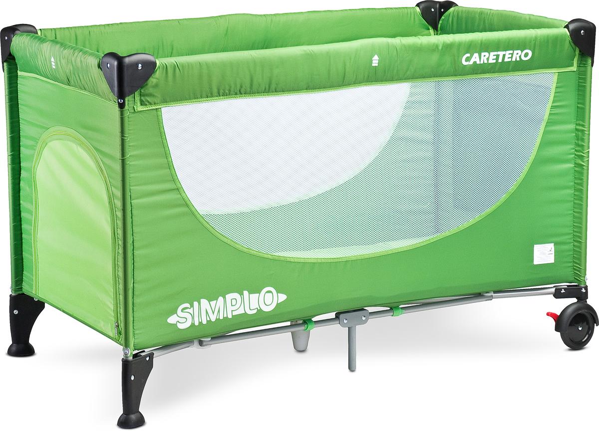 Caretero Манеж-кроватка Simplo цвет зеленый - Детская комната