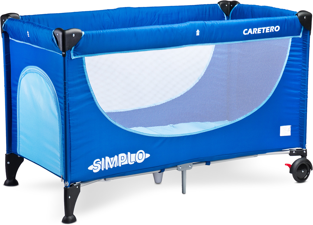 Caretero Манеж-кроватка Simplo цвет синий - Детская комната