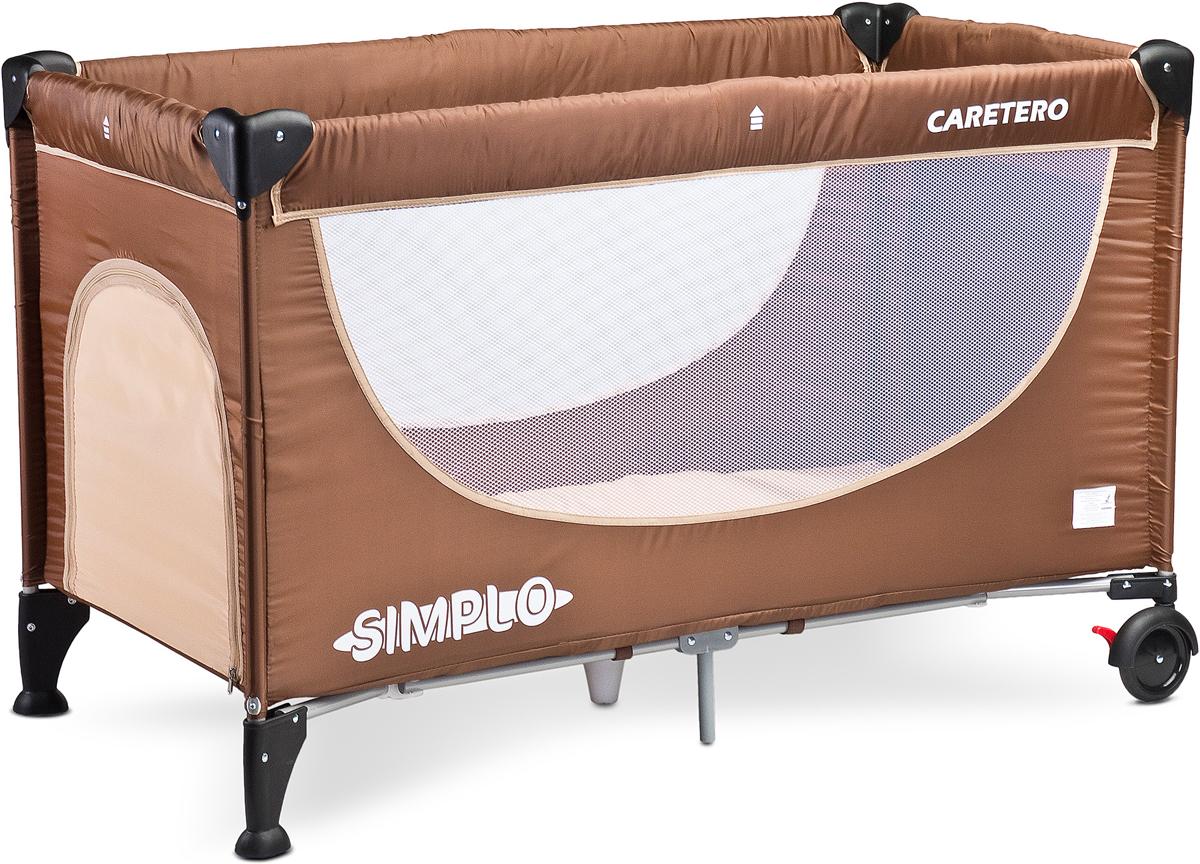 Caretero Манеж-кроватка Simplo цвет коричневый -  Детская комната