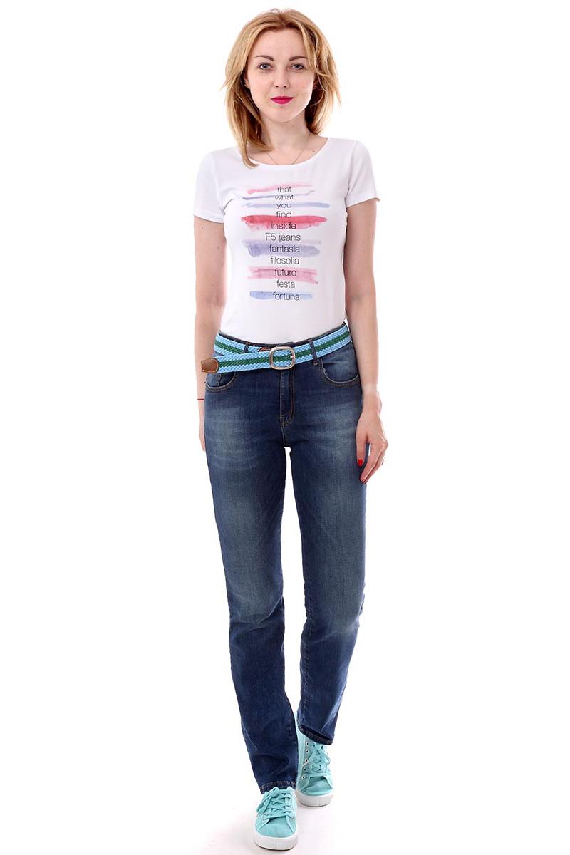 Джинсы женские F5, цвет: синий. 175107_w.medium. Размер 28-34 (44-34) футболка классическая printio черно белый шут