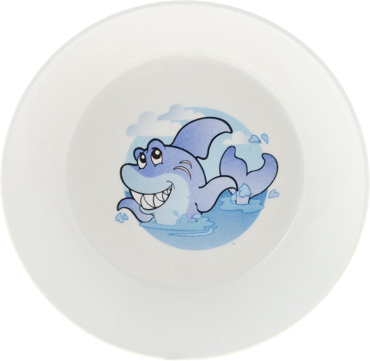 Блюдце Кубаньфарфор Морской мир. Рыба, цвет синий2220069_синяяБлюдце Кубаньфарфор Морской мир. Рыба, цвет синий