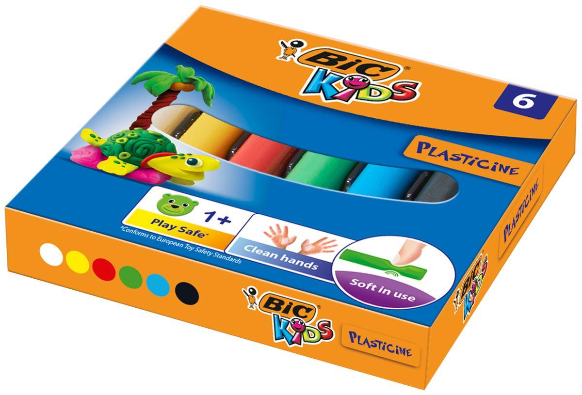 Bic Пластилин Kids 6 цветов фломастеры bic kids kid couleur 12 цветов