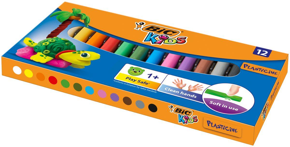 Bic Пластилин Kids 12 цветов фломастеры bic kids kid couleur 12 цветов