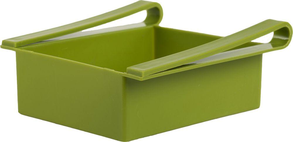 Контейнер для холодильника Homsu Для кухни, цвет: зеленый, 16 x 15 x 7 смGR1819СЛКонтейнер удобен и прост в применении, он крепится на полку холодильника и функционирует как ящик. Имеет 5 отверстий на дне, благодаря чему, хорошо вентилируется и надолго сохраняет свежесть продуктов. Идеально подходит для хранения фруктов, косметических средств или остатков пищи.