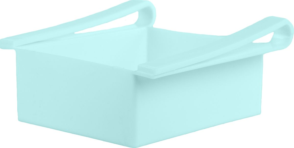 Контейнер для холодильника Homsu Для кухни, цвет: голубой, 16 x 15 x 7 смHOM-691Контейнер удобен и прост в применении, он крепится на полку холодильника и функционирует как ящик. Имеет 5 отверстий на дне, благодаря чему, хорошо вентилируется и надолго сохраняет свежесть продуктов. Идеально подходит для хранения фруктов, косметических средств или остатков пищи.