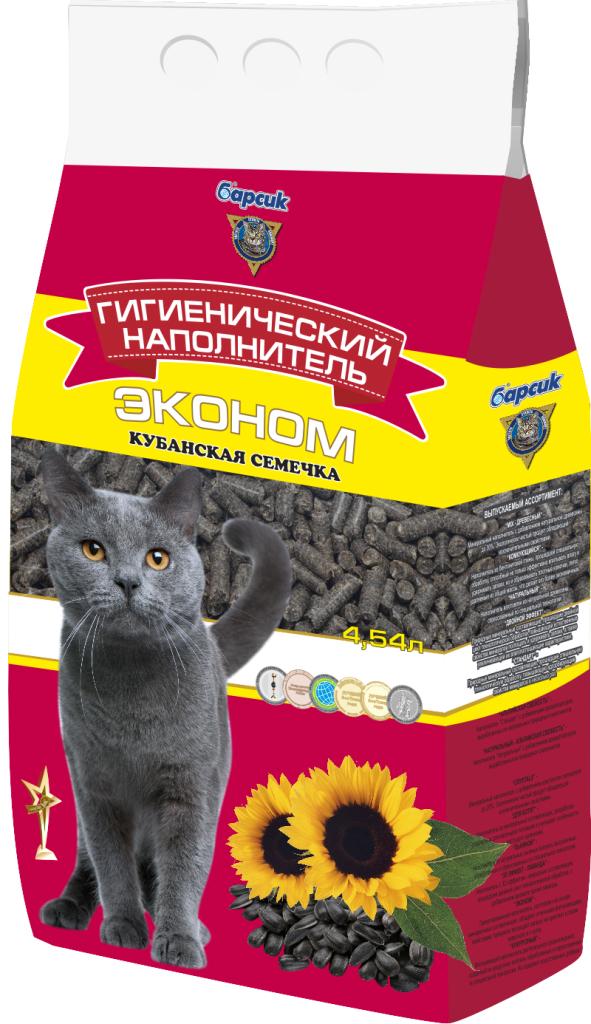 Наполнитель для кошачьего туалета Барсик Эконом, кубанская семечка, 4,54 л семена седек тыква золотая семечка