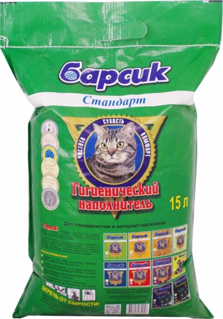 Наполнитель для кошачьего туалета Барсик Стандарт, минеральный, 15 л92067Гигиенический наполнитель Барсик Стандарт – Гигиенический наполнитель Барсик Стандарт – экологически чистый высококачественный впитывающий наполнитель для кошачьего туалета, изготовлен из природного минерала – опоковидной глины, прошедшей специальную технологическую обработку, с добавлением 30% натуральной древесины, для улучшения свойств впитывания жидкости и удержания запаха.Основные свойства наполнителя Барсик Стандарт: изготовлен из 100% натуральных минеральных компонентов, Обладает бактерицидными свойствами, отлично впитывает влагу, защищает от запаха, гранулы не прилипают к шерсти и лапам, не токсичен, не вызывает аллергии, экологически чистый продукт. Регулярный контакт с опоковидной глиной, способствует заживлению трещинок и снятию воспалений, усиливает клеточный обмен, оказывает благоприятное, смягчающе воздействие на кожный покров лапок животного. Воспроизведение структуры грунта, привычного для кошек в природе, а также отсутствие отпугивающих запахов, быстро приучают питомца к лотку с наполнителем. Не требуется ежедневного ухода за кошачьим туалетом.