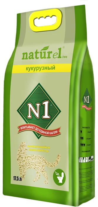 Наполнитель для кошачьего туалета №1  Naturel. Кукурузный , комкующийся, 17,5 л - Наполнители и туалетные принадлежности
