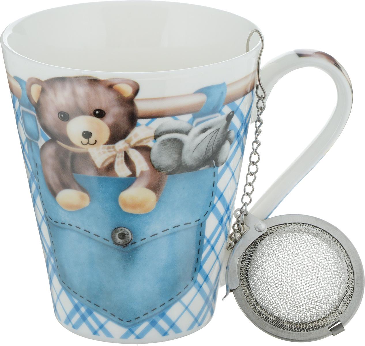 Кружка Доляна Мишка в кармане, с заварником, 300 мл836412_голубойФункциональная кружка с заварником Мишка в кармане – практичная альтернатива заварочному чайнику. Бытовую пользу предлагаемого изделия ярче всего можно оценить в условиях офиса. Настоящие ценители чая отдают предпочтение листовым смесям, позволяющим оценить мельчайшие оттенки вкуса и аромата. Данное изделие подарит вам замечательную возможность не изменять своим привычкам и всегда радовать себя свежим чаем.