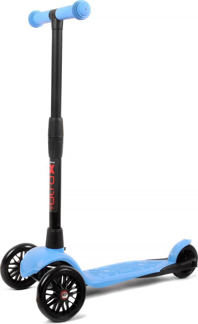 Детский самокат Buggy Boom Alfa Model, трехколесный, цвет: голубой 11003-211177С трехколесным самокатом ваш ребенок сможет укрепить здоровье, просто наслаждаясь прогулкой. Он имеет надежную устойчивую конструкцию и ручки с противоскользящей поверхностью. Руль складывается и регулируется по высоте, колеса светятся. Катание на самокате развивает координацию.