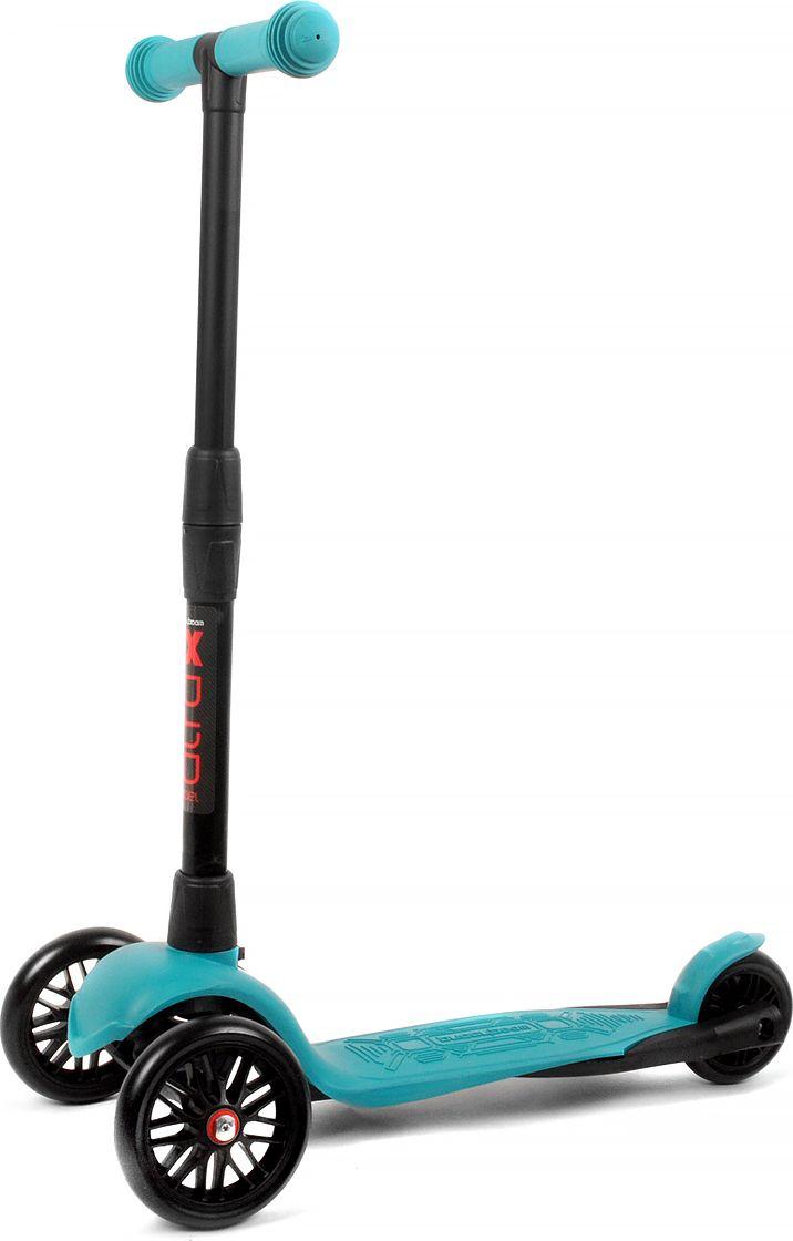 Детский самокат Buggy Boom Alfa Model, трехколесный, цвет: бирюзовый 16003-211677С трехколесным самокатом ваш ребенок сможет укрепить здоровье, просто наслаждаясь прогулкой. Он имеет надежную устойчивую конструкцию и ручки с противоскользящей поверхностью. Руль складывается и регулируется по высоте, колеса светятся. Катание на самокате развивает координацию.
