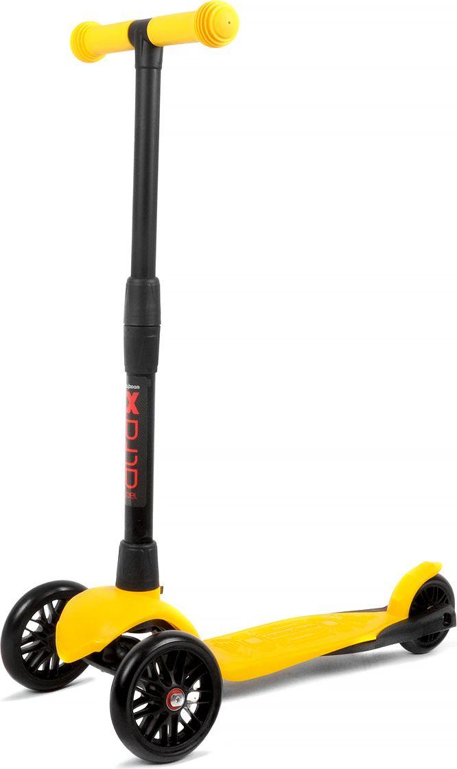 Детский самокат Buggy Boom Alfa Model, трехколесный, цвет: желтый 27003-212777Руль складывается и регулируется по высоте, колеса светятся.