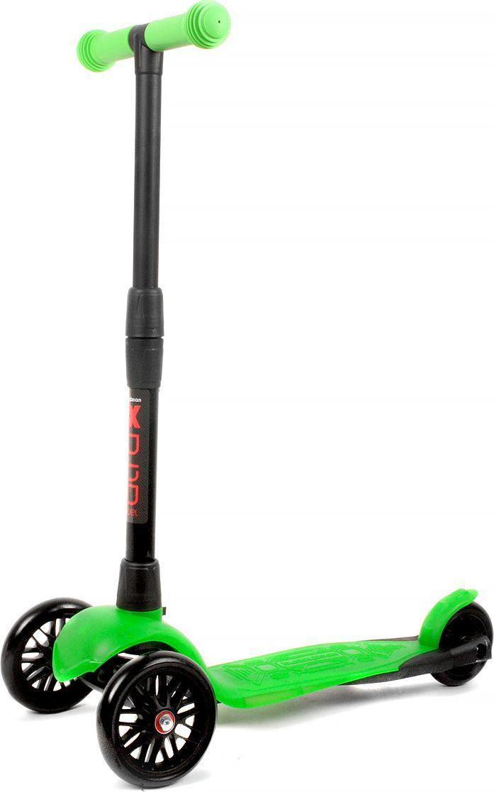 Детский самокат Buggy Boom Alfa Model, трехколесный, цвет: зеленый 30003-213077Руль складывается и регулируется по высоте, колеса светятся.