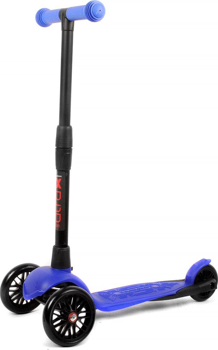 Детский самокат Buggy Boom Alfa Model, трехколесный, цвет: синий 51003-215177С трехколесным самокатом ваш ребенок сможет укрепить здоровье, просто наслаждаясь прогулкой. Он имеет надежную устойчивую конструкцию и ручки с противоскользящей поверхностью. Руль складывается и регулируется по высоте, колеса светятся. Катание на самокате развивает координацию.