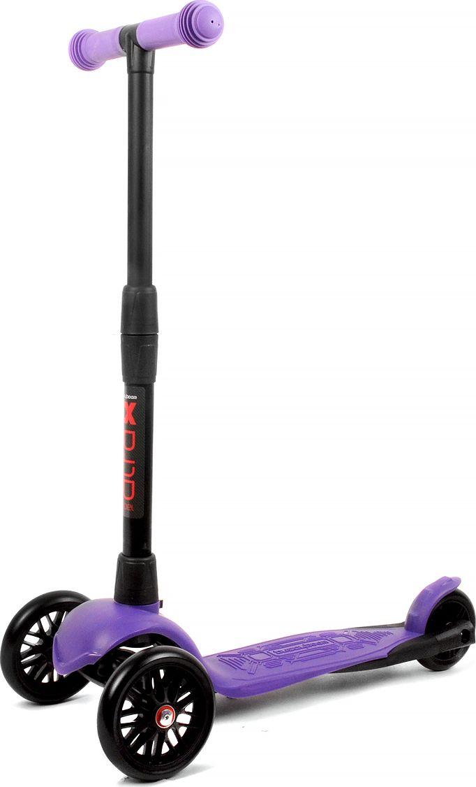 Детский самокат Buggy Boom Alfa Model, трехколесный, цвет: фиолетовый 52003-215277С трехколесным самокатом ваш ребенок сможет укрепить здоровье, просто наслаждаясь прогулкой. Он имеет надежную устойчивую конструкцию и ручки с противоскользящей поверхностью. Руль складывается и регулируется по высоте, колеса светятся. Катание на самокате развивает координацию.