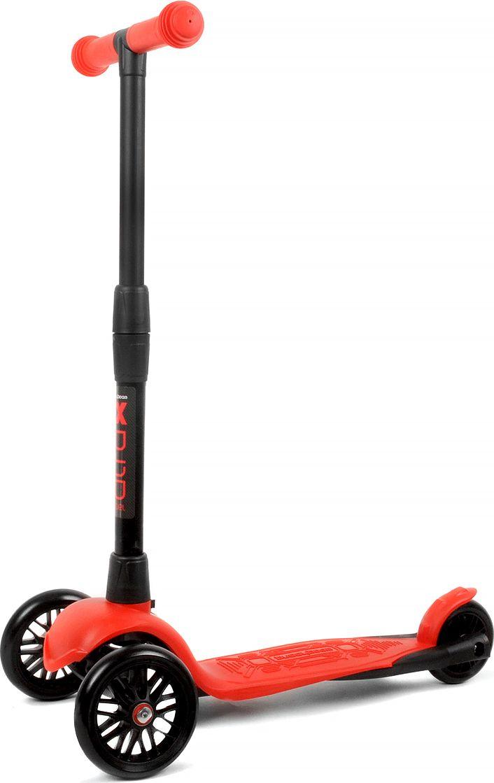 Детский самокат Buggy Boom Alfa Model, трехколесный, цвет: красный003-215577С трехколесным самокатом ваш ребенок сможет укрепить здоровье, просто наслаждаясь прогулкой. Он имеет надежную устойчивую конструкцию и ручки с противоскользящей поверхностью. Руль складывается и регулируется по высоте, колеса светятся. Катание на самокате развивает координацию.
