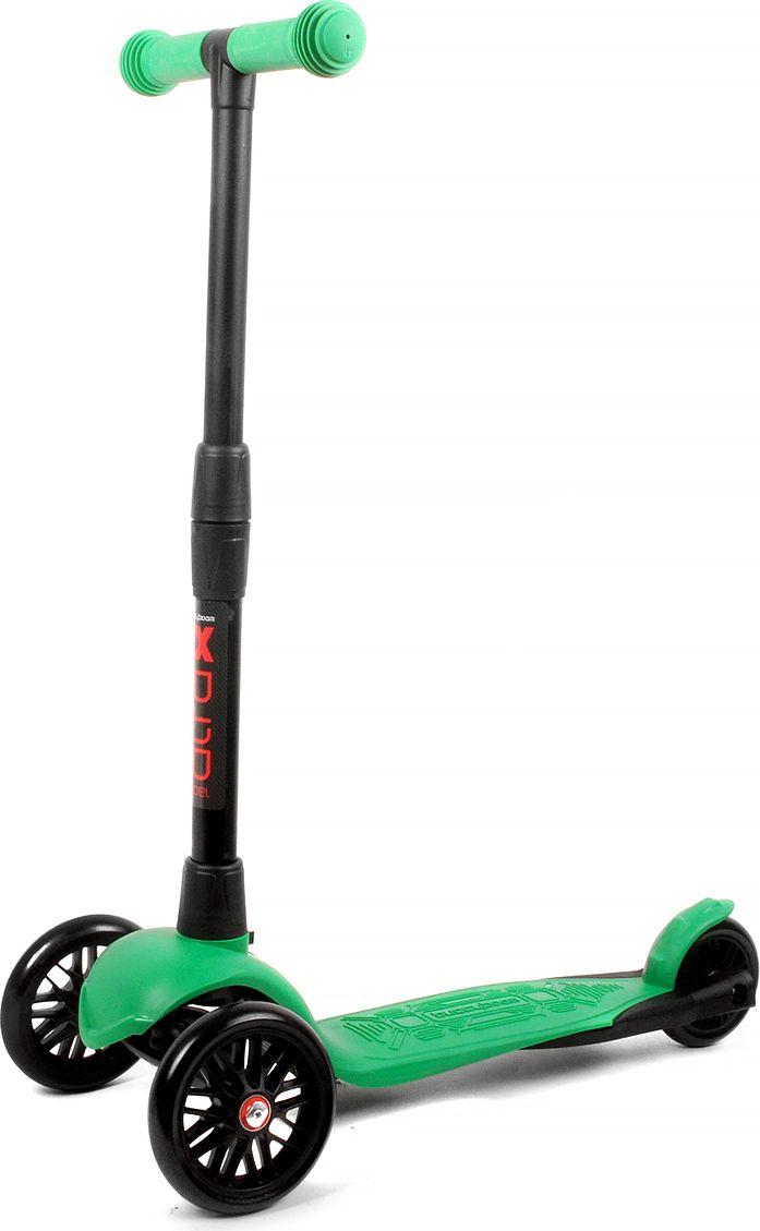 Детский самокат Buggy Boom Alfa Model, трехколесный, цвет: зеленый 56003-215677Руль складывается и регулируется по высоте, колеса светятся.