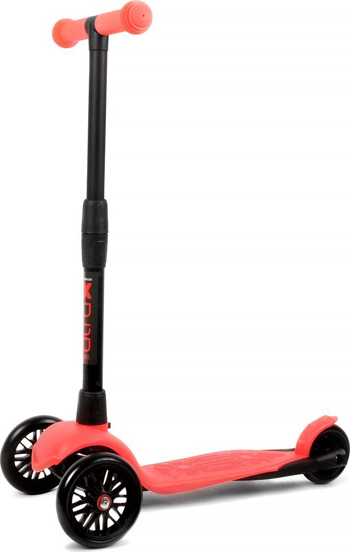 Детский самокат Buggy Boom Alfa Model, трехколесный, цвет: красный 58003-215877Руль складывается и регулируется по высоте, колеса светятся.