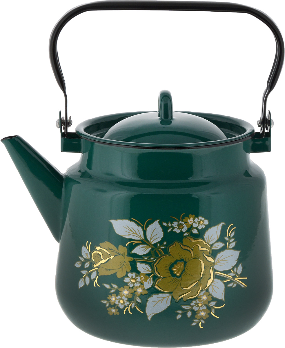 Чайник СтальЭмаль, цвет: зеленый, 3,5 л. 1с26/я1с26/я_зеленыйЧайник СтальЭмаль, цвет: зеленый, 3,5 л. 1с26/я