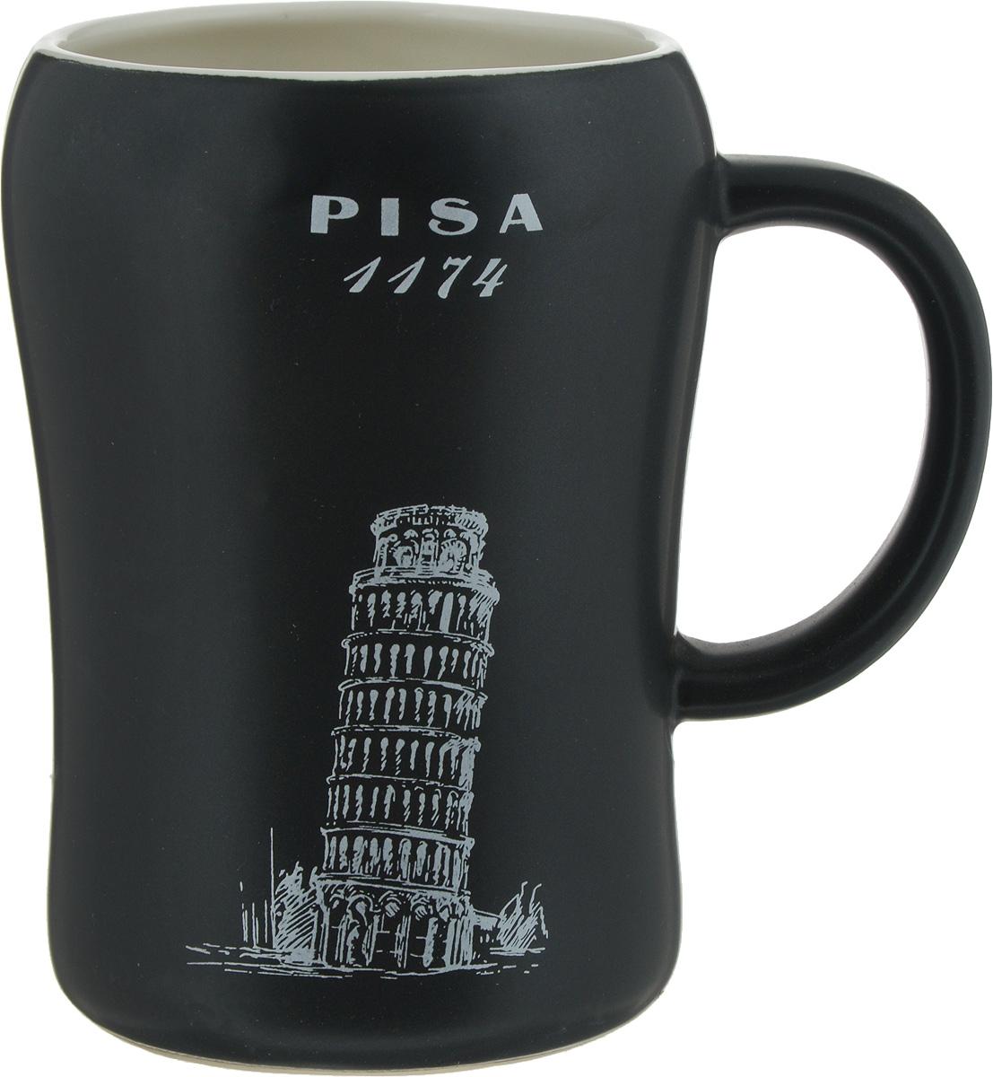 Кружка пивная Bella Pisa, цвет: черный, 500 млKR-01SCD290CB-1438_черныйКружка пивная Bella Pisa - это не просто емкость для пенного напитка, это ещеоригинальный сувенир или прекрасный подарок для настоящего ценителя. Такая пивная кружкапревращает распитие пива в настоящий ритуал. Кружка выполнена из керамики и оформленаизображением Статуи Свободы и надписью New York 1886. Пивная кружка BellaPisaстанет прекрасным пополнением вашей коллекции.Не рекомендуется мыть в посудомоечной машине. Объем: 500 мл.Высота кружки: 13 см.Диаметр (по верхнему краю): 8,5 см.