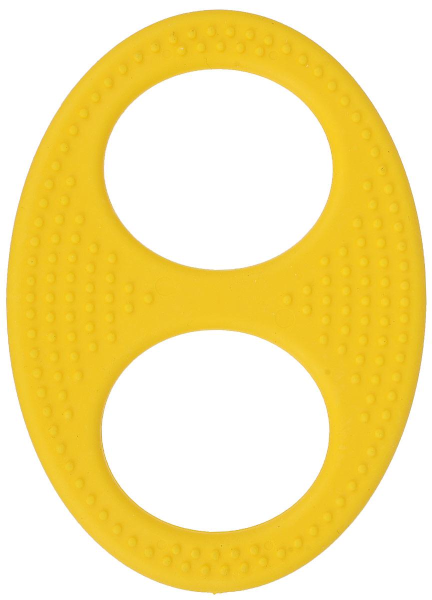 Пластмастер Прорезыватель Бесконечность цвет желтый