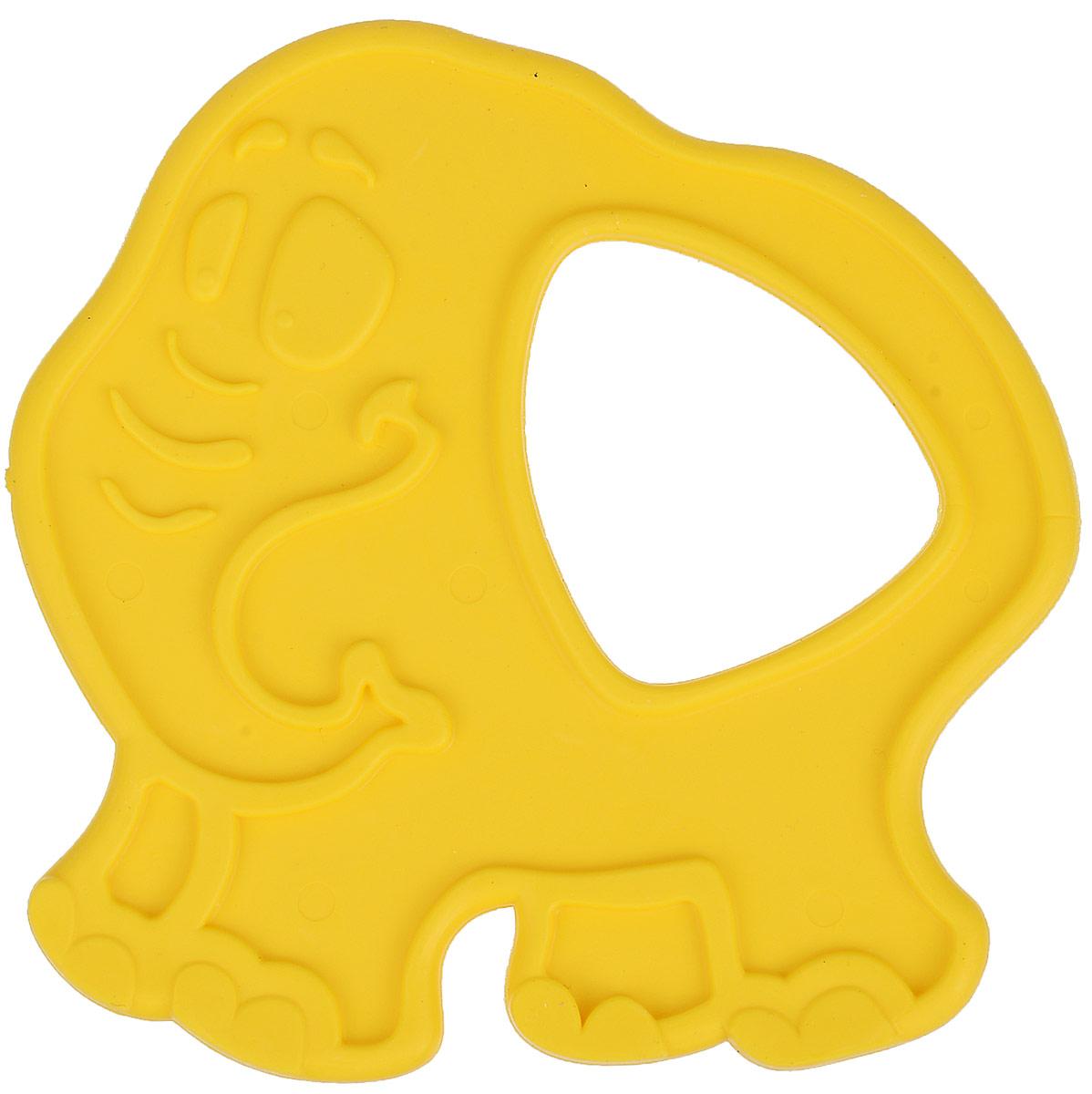 Пластмастер Прорезыватель Слоник цвет желтый