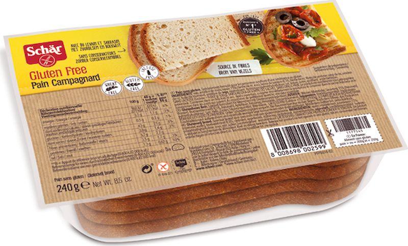 Dr. Schar Pain Campagnard Хлеб деревенский, 240 г хлебная смесь хлеб золотистый