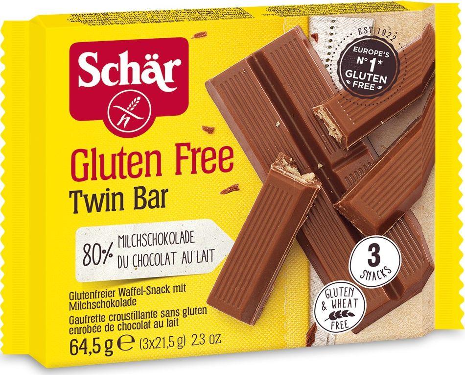 Dr. Schar Twin Bar пальчики шоколадные вафельные с молоком, 3 шт по 21,5 г chokocat могучий кот молочный шоколад 50 г