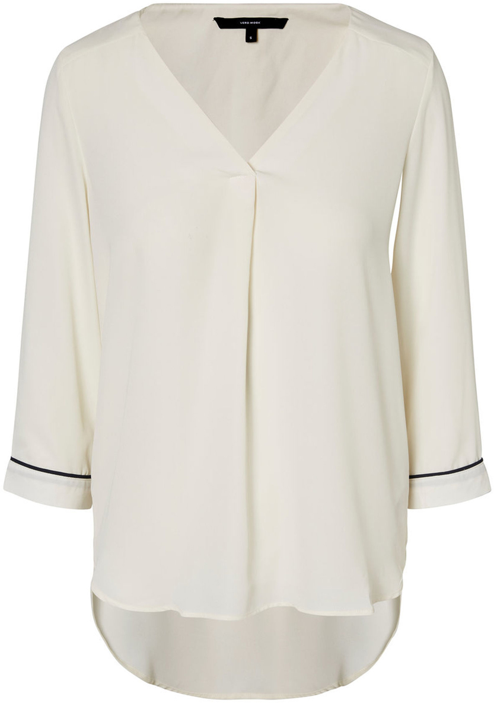 Блузка женская Vero Moda, цвет: бежевый. 10190403_Pristine. Размер S (42) блузка женская vero moda цвет черный 10187780 black размер 42 44