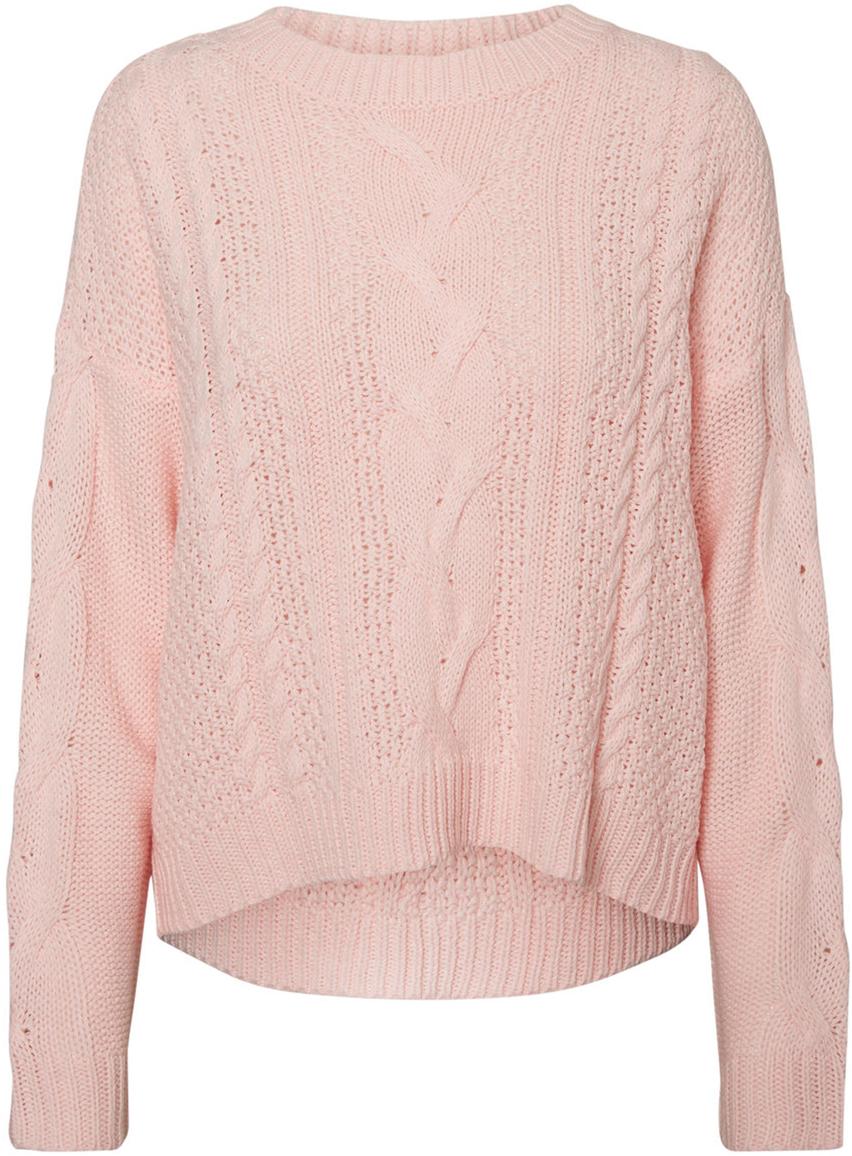 Джемпер женский Vero Moda, цвет: розовый. 10189425_Misty Rose. Размер S (42) кардиган женский vero moda цвет черный светло серый 10166453 размер s 42