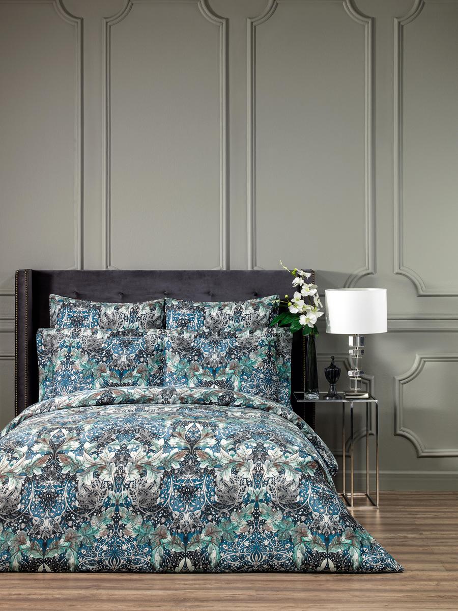 Постельное белье Togas Вермонт, цвет: синий, 145Х200, 200х230, 50Х70-2, 4 предмета