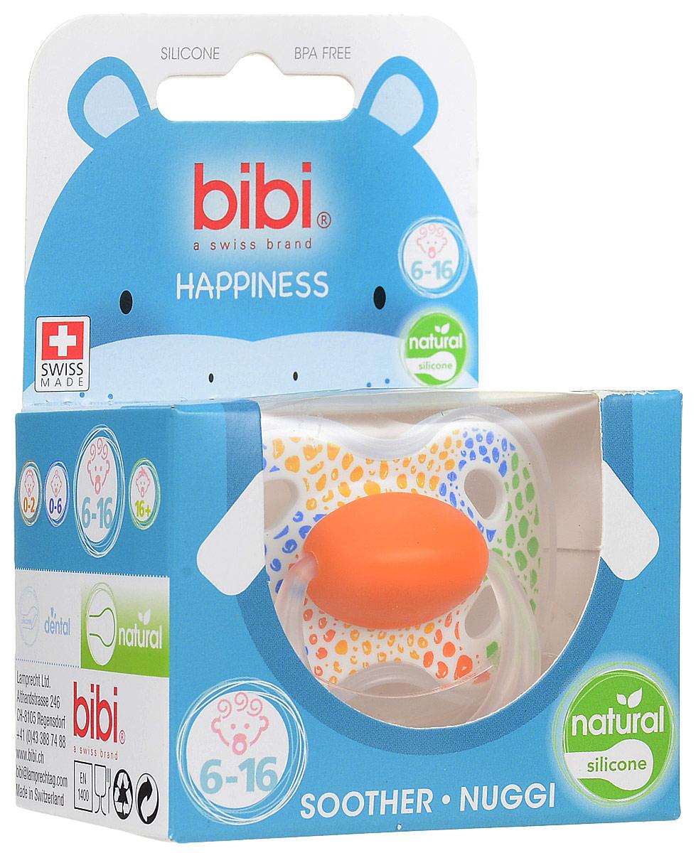 Bibi Пустышка силиконовая Happiness Ring Wild Baby от 6 до 16 месяцев цвет салатовый оранжевый синий двигательная дисфункция нижней челюсти