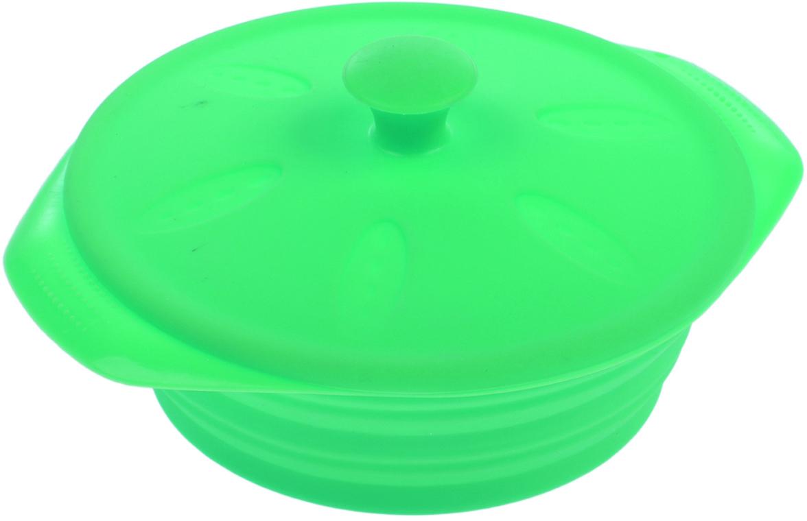 Кокотница-форма для запекания Доляна Луч, с крышкой, цвет: салатовый, 17 х 15 х 5 см1000364_светло-зеленыйФорма для выпечки из силикона — современное решение для практичных и радушных хозяек. Оригинальный предмет позволяет готовить в духовке любимые блюда из мяса, рыбы, птицы и овощей, а также вкуснейшую выпечку. Почему это изделие должно быть на кухне? блюдо сохраняет нужную форму и легко отделяется от стенок после приготовления; высокая термостойкость (от –40 до 230 ?) позволяет применять форму в духовых шкафах и морозильных камерах; небольшая масса делает эксплуатацию предмета простой даже для хрупкой женщины; силикон пригоден для посудомоечных машин; высокопрочный материал делает форму долговечным инструментом; при хранении предмет занимает мало места. Советы по использованию формы: Перед первым применением промойте предмет теплой водой. В процессе приготовления используйте кухонный инструмент из дерева, пластика или силикона. Перед извлечением блюда из силиконовой формы дайте ему немного остыть, осторожно отогните края предмета. Готовьте с удовольствием!