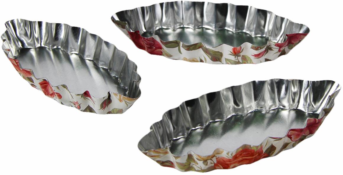 Набор форм для выпечки Доляна Глаз. Розарий, 10,5 х 5 х 1,5 см, 3 шт2601030Набор Доляна состоит из трех форм, выполненных из жести. Формы предназначены длявыпечки и приготовления желе. Стенки изделий рельефные. С набором форм Доляна вы всегдасможете порадовать своих близких оригинальной выпечкой.