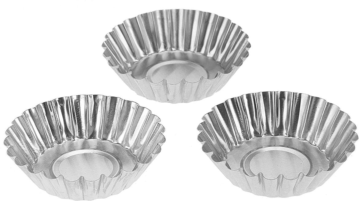 Набор форм для выпечки Доляна Кекс большой, 7 х 2 см, 3 шт833096Набор Доляна состоит из трех форм, выполненных из алюминия. Формы предназначены длявыпечки и приготовления желе. Стенки изделий рельефные. С набором форм Доляна вы всегдасможете порадовать своих близких оригинальной выпечкой.