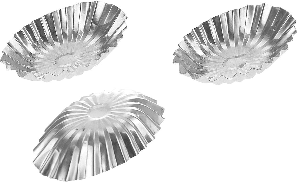 Набор форм для выпечки Доляна Кекс овальный, 5,5 х 9 см, 3 шт833095Набор Доляна состоит из трех форм, выполненных из алюминия. Формы предназначены длявыпечки и приготовления желе. Стенки изделий рельефные. С набором форм Доляна вы всегдасможете порадовать своих близких оригинальной выпечкой.