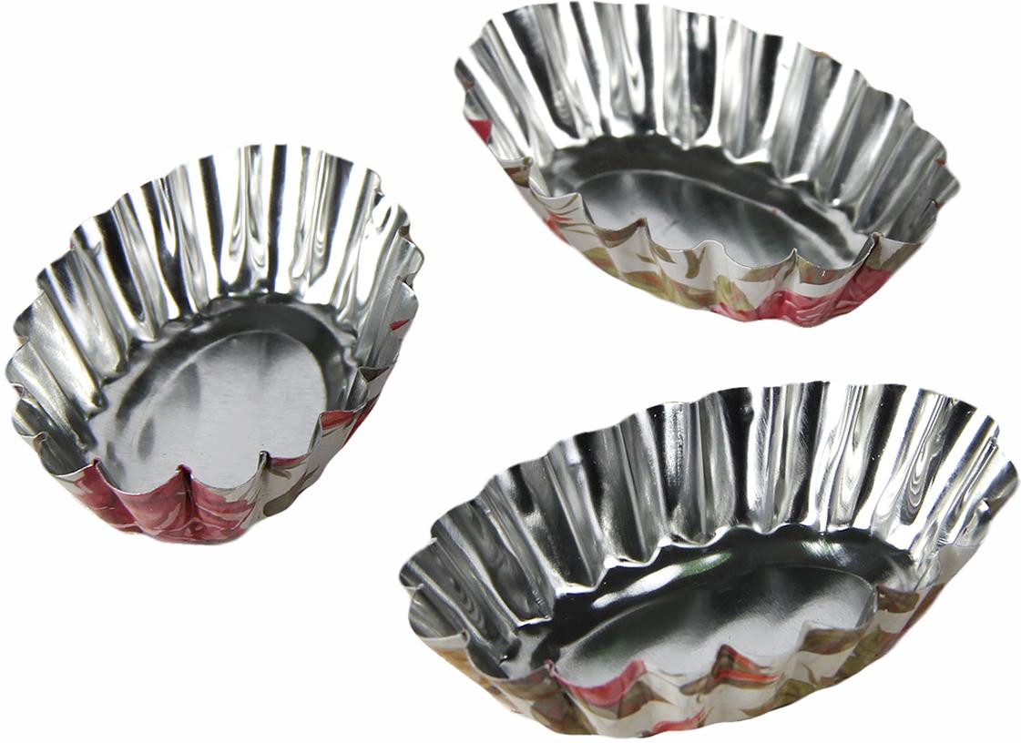 Набор форм для выпечки Доляна Овал. Розарий, 8 х 4,7 х 2 см, 3 шт набор форм для запекания marmiton 13 5 х 8 5 х 4 см 3 шт