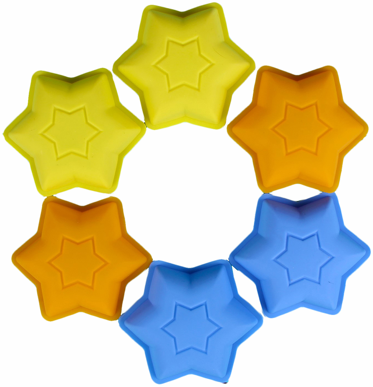Набор форм для выпечки Доляна Шестиконечная звезда, цвет в ассортименте, 6 шт, 9,2 х 2,5 см2797142_желтый, оранжевый, синийФормы для выпечки Доляна Шестиконечная звезда выполнены из силикона.Формы для выпечки из силикона - современное решение для практичных и радушных хозяек. Оригинальные предметы позволяют готовить в духовке любимые блюда.Блюдо в силиконовой форме сохраняет нужную форму и легко отделяется от стенок после приготовления. Высокая термостойкость (от -40 до +230°С) позволяет применять форму в духовых шкафах и морозильных камерах; небольшая масса делает эксплуатацию предмета простой; силикон пригоден для посудомоечных машин; высокопрочный материал делает форму долговечным инструментом; при хранении предмет занимает мало места.Перед извлечением блюда из силиконовой формы дайте ему немного остыть, осторожно отогните края предмета.Уважаемые клиенты!Обращаем ваше внимание на цветовой ассортимент товара. Поставка осуществляется в зависимости от наличия на складе.Как выбрать форму для выпечки – статья на OZON Гид.