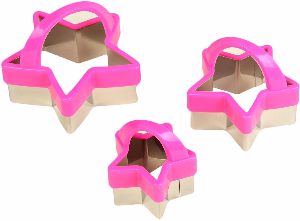 Набор форм для вырезания печенья Доляна Звезда, 3 шт